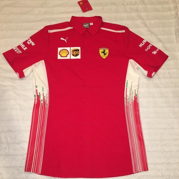 9ab76f993a98d9 Puma Ferrari SF Shell Racing Button Up Shirt Team